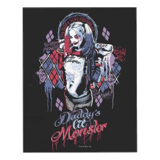 Suicide Squad | Harley Quinn Inked Graffiti Wood Print
