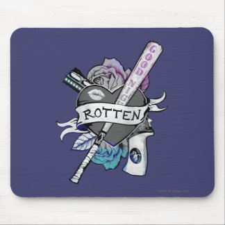 """Suicide Squad   Harley Quinn """"Rotten"""" Tattoo Art Mouse Pad"""