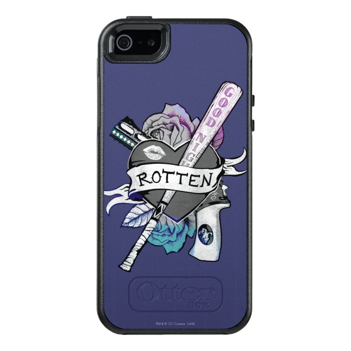 Suicide squad harley quinn rotten tattoo art otterbox for Tattoo artist iphone cases