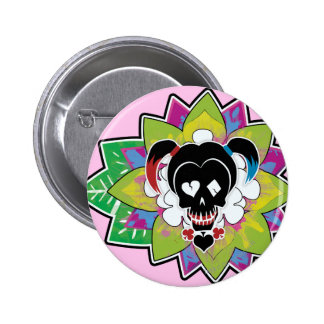 Suicide Squad | Harley Quinn Skull Tattoo Art Button
