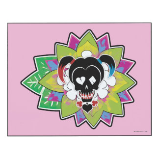 Suicide Squad | Harley Quinn Skull Tattoo Art Wood Print
