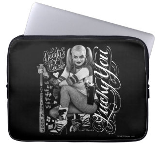 Suicide Squad   Harley Quinn Typography Photo Laptop Sleeve