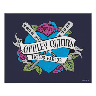 Suicide Squad | Harley Quinn's Tattoo Parlor Heart Poster