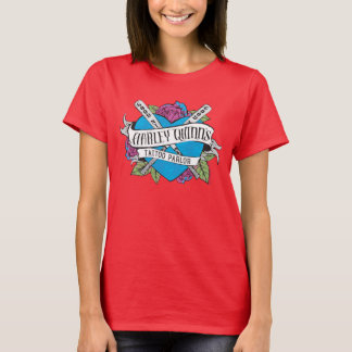 Suicide Squad | Harley Quinn's Tattoo Parlor Heart T-Shirt