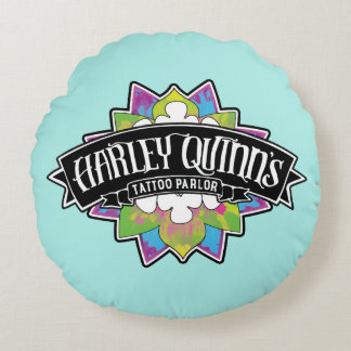 Suicide Squad | Harley Quinn's Tattoo Parlor Lotus Round Pillow