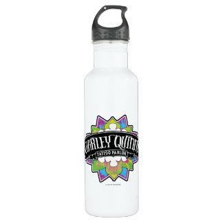 Suicide Squad | Harley Quinn's Tattoo Parlor Lotus Stainless Steel Water Bottle