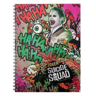 Suicide Squad   Joker Character Graffiti Spiral Notebook