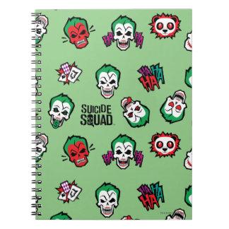 Suicide Squad   Joker Emoji Pattern Notebook