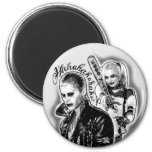 Suicide Squad | Joker & Harley Airbrush Tattoo 2 Inch Round Magnet