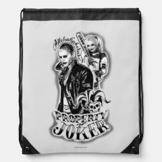 Suicide Squad | Joker & Harley Airbrush Tattoo Drawstring Bag