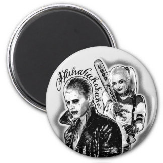 Suicide Squad | Joker & Harley Airbrush Tattoo Magnet