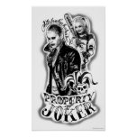 Suicide Squad | Joker & Harley Airbrush Tattoo Poster