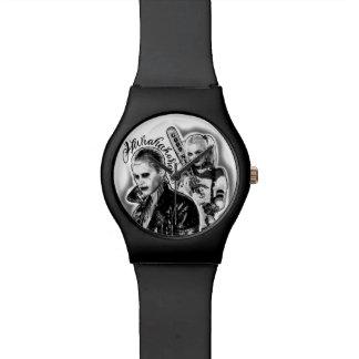 Suicide Squad | Joker & Harley Airbrush Tattoo Watch