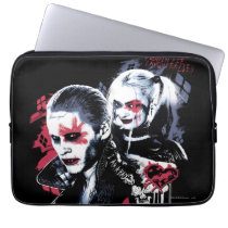 Suicide Squad | Joker & Harley Painted Graffiti Computer Sleeve