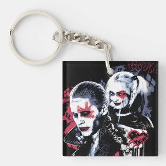 Suicide Squad | Joker & Harley Painted Graffiti Keychain