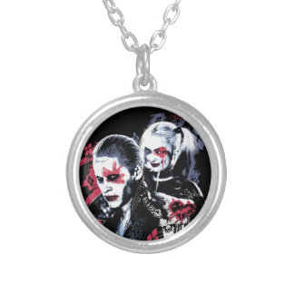 Suicide Squad | Joker & Harley Painted Graffiti Silver Plated Necklace