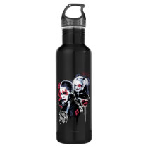 Suicide Squad | Joker & Harley Painted Graffiti Stainless Steel Water Bottle