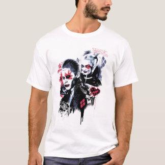 Suicide Squad | Joker & Harley Painted Graffiti T-Shirt