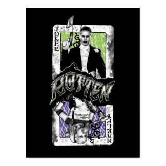 Suicide Squad   Joker & Harley Rotten Postcard
