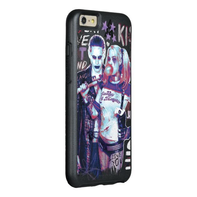 suicide squad joker harley typography photo otterbox iphone 6 6s plus case zazzle