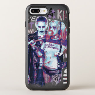 Suicide Squad | Joker & Harley Typography Photo OtterBox Symmetry iPhone 7 Plus Case