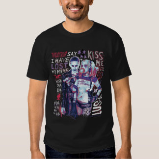 Suicide Squad | Joker & Harley Typography Photo T-Shirt