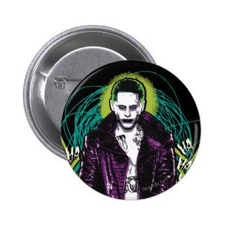 Suicide Squad | Joker Retro Rock Graphic Pinback Button