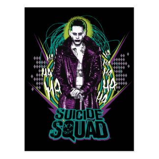 Suicide Squad   Joker Retro Rock Graphic Postcard