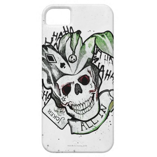 Suicide squad joker skull all in tattoo art iphone se for Tattoo artist iphone cases