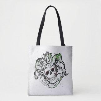 "Suicide Squad | Joker Skull ""All In"" Tattoo Art Tote Bag"