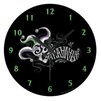 Suicide Squad   Joker Skull - Haha Large Clock