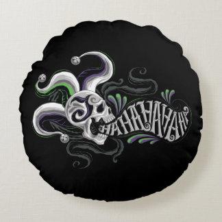 Suicide Squad   Joker Skull - Haha Round Pillow
