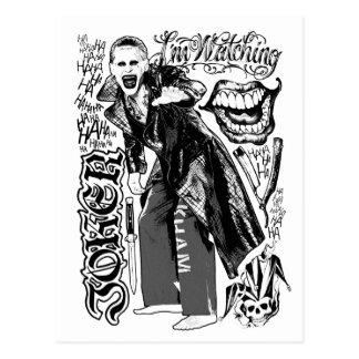 Suicide Squad   Joker Typography Photo Postcard