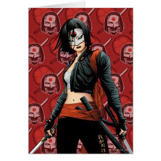 Suicide Squad   Katana Comic Book Art Card