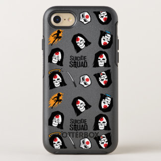 Suicide Squad | Katana Emoji Pattern OtterBox Symmetry iPhone 7 Case