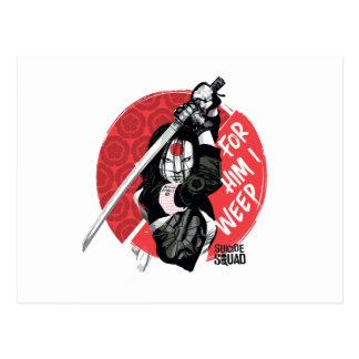 "Suicide Squad | Katana ""For Him I Weep"" Postcard"