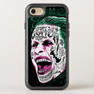 Suicide Squad | Laughing Joker Head Sketch OtterBox Symmetry iPhone 7 Case