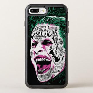 Suicide Squad   Laughing Joker Head Sketch OtterBox Symmetry iPhone 7 Plus Case