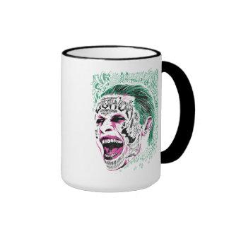 Suicide Squad | Laughing Joker Head Sketch Ringer Mug