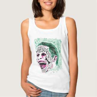 Suicide Squad | Laughing Joker Head Sketch Tank Top