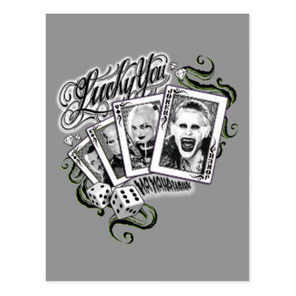 """Suicide Squad   """"Lucky You"""" Playing Cards"""