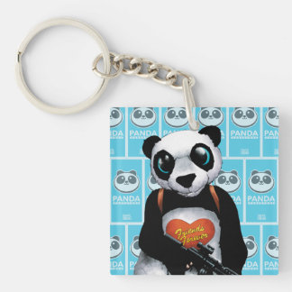 Suicide Squad   Panda Double-Sided Square Acrylic Keychain