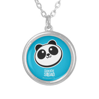 Suicide Squad | Panda Purveyors Logo Silver Plated Necklace
