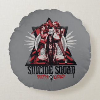 Suicide Squad | Pretty Crazy Squad Girls Round Pillow