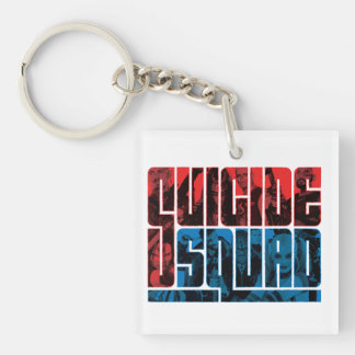 Suicide Squad | Red and Blue Logo Keychain
