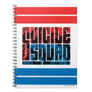 Suicide Squad | Red and Blue Logo Notebook