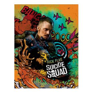 Suicide Squad   Rick Flag Character Graffiti Postcard
