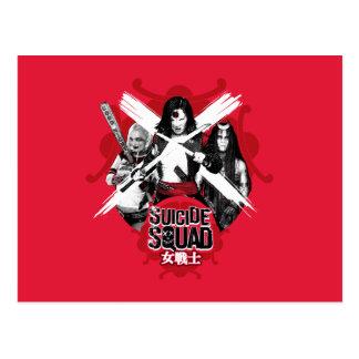 "Suicide Squad | Squad Girls ""Female Warrior"" Postcard"