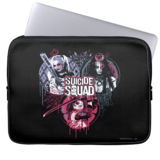 Suicide Squad | Squad Girls Graffiti Badges Laptop Computer Sleeve