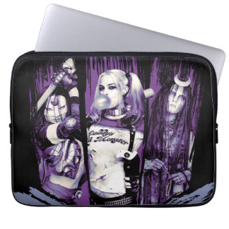 "Suicide Squad | Squad Girls ""In Squad We Trust"" Laptop Sleeve"